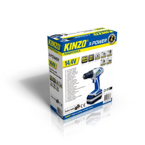 Kinzo 71783 - Atornillador (para metal y madera, 230 V, batería de 14,4 V)