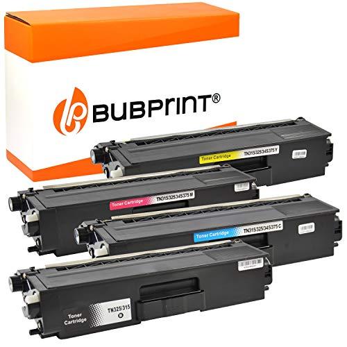 Bubprint 4 Toner kompatibel für Brother TN-325 TN-320 TN-328 für DCP-9055CDN DCP-9270CDN HL-4140CN HL-4150CDN HL-4570CDW MFC-9460CDN MFC-9465CDN
