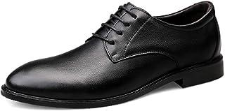 Kirabon Los Zapatos de Vestir de los Hombres, los Zapatos de los Hombres de Negocios de Cuero británicos (Color : Negro, Size : 44)