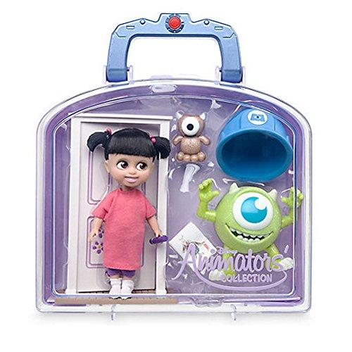Colección oficial de animadores de Disney Monsters Inc Conjunto de minijuegos de muñeca Boo