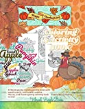 Happy THANKSGIVING coloring & activity book. A Thanksgiving variety puzzle book with word search, crossword, sudoku, Mazes, and Thanksgiving coloring ... & Thanksgiving coloring book Easy - hard