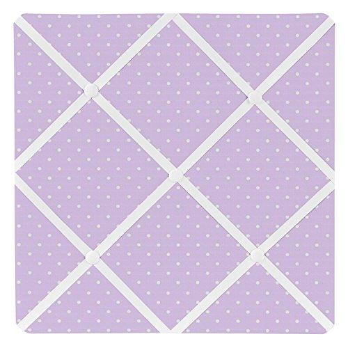 Sweet Jojo Designs Purple Polka Dot Fabric Memory/Memo Photo Bulletin Board for Mod Dots Collection