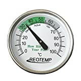 """REOTEMP Backyard Compost Thermometer - 20"""" Stem, with Composting Instructions"""