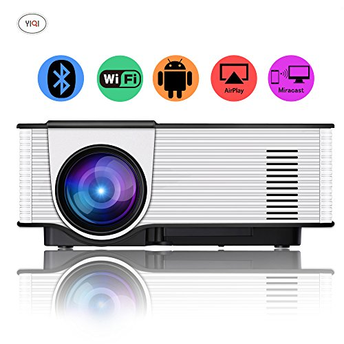 CPX-319 Android4.4 mini portatili senza fili ha condotto il proiettore 1080p 1500 lumen Bluetooth WIFI TV Beame