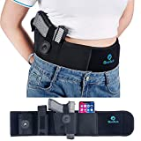 Belly Band Holster for Concealed Carry - Breathable Neoprene Waist Gun Holster for Men and Women - Fits Glock, Ruger LCP, Taurus, S&W M&P 40 Shield Bodyguard, Sig Sauer, Kahr, Beretta, 1911, etc