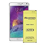 Galaxy Note 4 Battery,HELIOTION Upgrade 4200mAh 0 Cycle Count 800+ Charge Cycles High Capacity Replacement Battery for Samsung Galaxy Note 4,[910, N9100, N910H,N910F,and More] [2 Years Warranty]