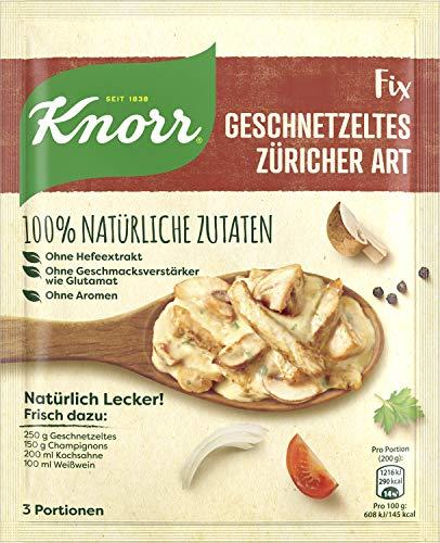 Knorr Natürlich Lecker Geschnetzeltes Züricher Art Fix 3 Portionen (19 x 32 g)
