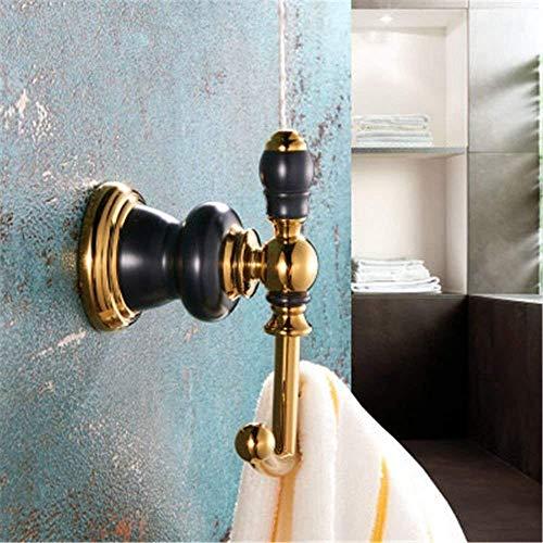 QTQHOME Grifo Cobre Baño Baño de oro viejo negro Toalleros de estante Kit de toallero,gancho para ropa