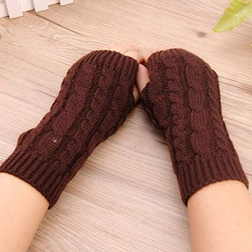 Winter Wrist Female Gloves Knitted Lady Fingerless Mittens Women Warmer Gloves 5 Colors - (Color: B)