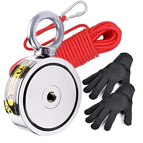 XIAOSI Fishing Magnet 950lbs Pulling Force, 10m Durable Rope Str