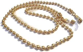 Tiffany Gold Balls Inspired Eyeglass Chain for Women 24K Gold Plated Matt, Glasses Chain, Eyeglass Necklace Holder Sunglasses Chain, Amazing Gift Ideas