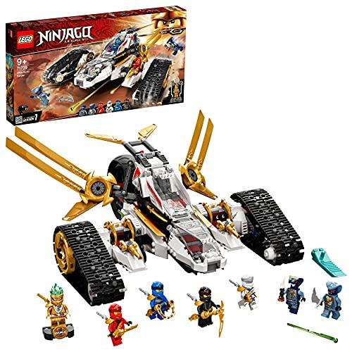 LEGO 71739 Ninjago Vehículo de Asalto Ultrasónico 4en1, Juguete de Construcción, Moto,...