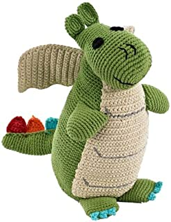 Pebble   Handmade Dragon - Green   Crochet   Fair Trade   Pretend   Imaginative Play   Medieval   Castle   Machine Washable