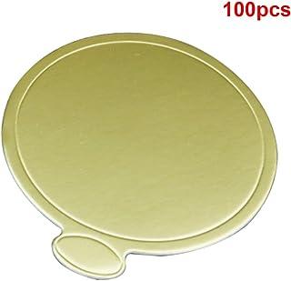 100 posavasos de papel desechables con base redonda para