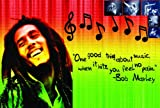 Laminado Bob Marley Rasta Colors Poster | Music | Jamaican| Wall Art Print