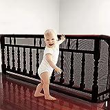 ShengOu Red de Seguridad Para Balcones Niños,Malla de Seguridad Para Escaleras,Red de Seguridad Para Niños Balcones,Malla de Seguridad Para Balcones,Red seguridad Niños (negro)