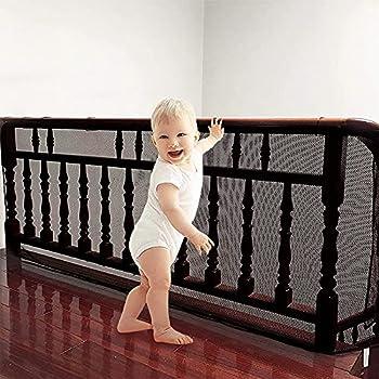 ShengOu Filet de Sécurité Escalier,Filet Escalier,Filet de Protection Escalier Enfant,Filet de Sécurité Balcon,Filet de Protection Pour Escalier,Filet de Protection pour Escalier (le noir)