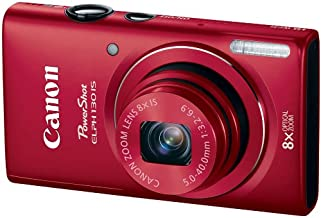 Canon PowerShot ELPH 130 IS 16.0 MP Digital Camera with 8x Optical Zoom 28mm Wide-Angle Lens and 720p HD Video Recording (Red) (Discontinued by Manufacturer)