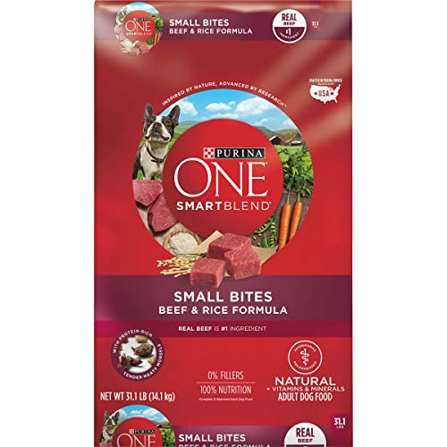 Purina ONE Natural Dry Dog Food, SmartBlend Small Bites Beef & Rice Formula - 31.1 lb. Bag