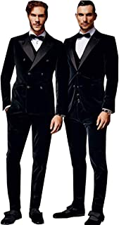 Best mens black velvet double breasted blazer Reviews