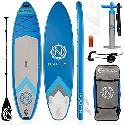 iROCKER Nautical Inflatable Paddle Board | Blue