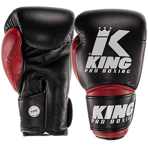 King Pro Boxing Boxhandschuhe Star 10, schwarz-rot Größe 10 Oz