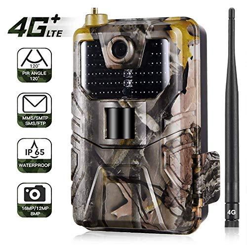 JFZCBXD 4G LTE GPS Trail cámara de 16MP 1080P, IP65 inalámbrica Caza CameraScouting CAM, 44pcs IR LED, 0.3s gatillo de Velocidad