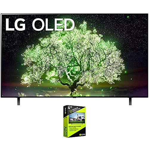 LG OLED65A1PUA 65 Inch OLED TV (2021 Model) Bundle with Premium 4 Year Extended Protection Plan