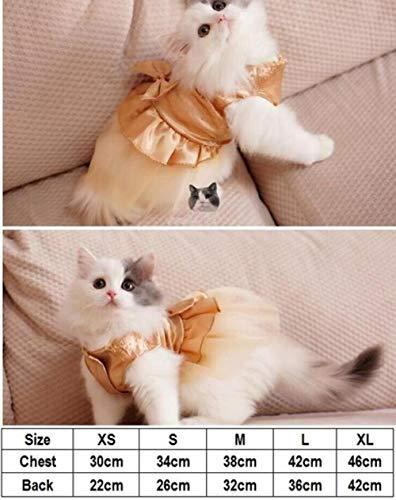 FHKGCD Bruiloftskleding, zomerjurk voor katten, tutu-jurk voor kleine honden, kleding voor huisdieren, kleine katten