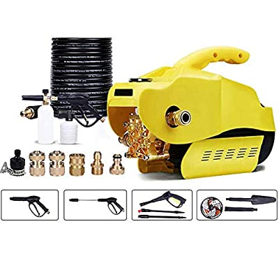 Induction Motor Portable Electric High Pressure Cleaner Pressure Washer Self-priming Dual Use For Home Garden Car Washing Machine,F dljyy (Color : F) by dljxx
