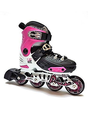 KRF The New Urban Concept Damen FreeSkate First Inline Skates - Verstellbare Rollschuhe Für Jungen/Mädchen/Kinder, Pink, 36-39