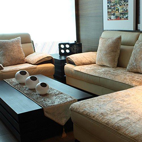 TY&WJ Plüsch Anti-rutsch Sofabezug Wohnzimmer Sofabezug Outdoor Couch-abdeckungen Möbel Protector Für ledersofa Haustier Hund & Kinder-Gelb 70x180cm(28x71inch)