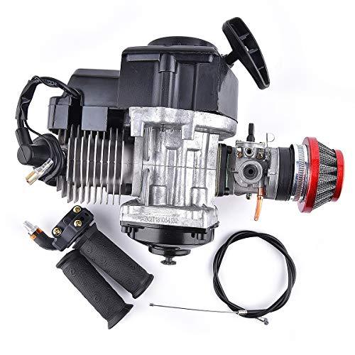 Motor 2-Takt + Lenker + Gaszug + Luftfilter für 47CC Motor Pocket Mini Bike Scooter ATV 7T 25H Kette 40mm Bohrung