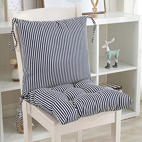 KongEU - Cojín para Silla de jardín, Asiento de Oficina para sillas de Respaldo bajo, Almohadilla de Asiento y Respaldo de Espuma Suave, Desmontable con Cremallera, 80 x 40 x 6,5 cm (sin sillas)