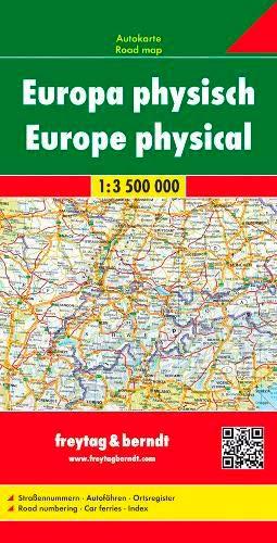 Freytag Berndt Autokarten, Europa physisch - Maßstab 1:3 500 000 (freytag & berndt Auto + Freizeitkarten)
