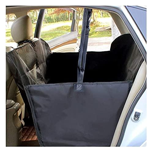 WEIWEIMITE Funda de asiento trasero para perro, impermeable para uso general, funda de asiento de fila trasera, protector de asiento de coche de tela Oxford para perros accesorios de coche (color: A)