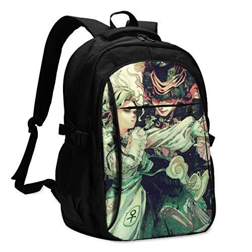 Alicia en el país de las maravillas, resistente, impermeable, antirrobo, con puerto de carga USB, mochila de viaje