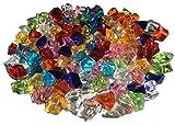100 pieza 15 mm reluciente Multicolor Decoración Hielo Diamantes Brillantes brillantes acrílico Piedras Manualidades piedras decorativas gltzer brillantes cristales decorativos para decorar