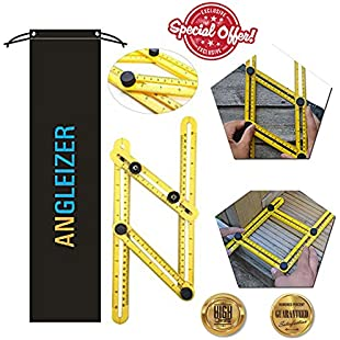 Angle Ruler | Angles measuring template tool | Multi-angle Angle-izer for Handymen, Builders, Craftsmen, Carpenter | Saves Time, Helps Eliminate Mistake | For hanging Tile, Laying Floors, Cutting Stones & More