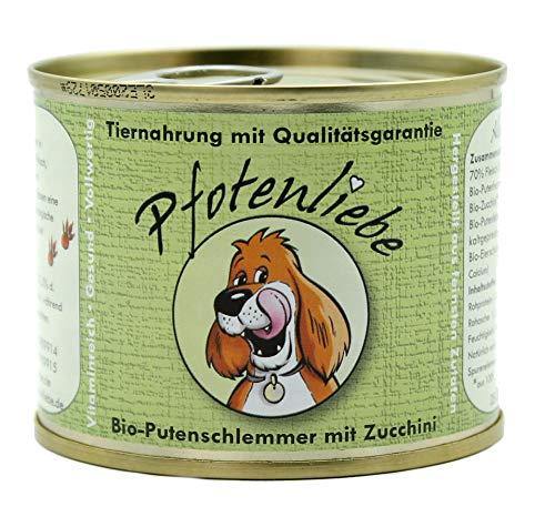 Pfotenliebe Bio Hundefutter nass Nassfutter | Bio-Putenschlemmer | mit Qualitätsgarantie | Natürlich ohne Chemie | Machen Sie Ihren Hund glücklich! | 400g + 200g (200g)