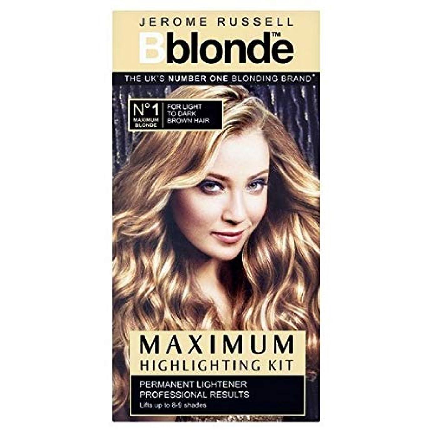 プロポーショナル死にかけているクリーナー[B Blonde] ジェロームラッセルBblonde強調するキットライトナー - Jerome Russell Bblonde Highlighting Kit Lightner [並行輸入品]