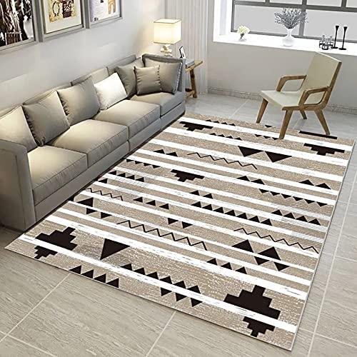 HAODELE Modernas Alfombras 90x100cm Interiores Modernas Alfombra imitación Cordero Moderna Peluda Dormitorio Decoración, BM-071