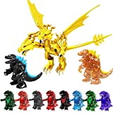 Godzilla Movie Blocks King Ghidorah Godzilla King of The Monsters Anime Action Figure Assembled Model Toy Kids Gift (Super Godzilla)