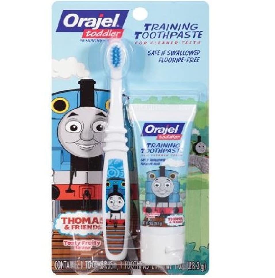 信じられない彼らはブリード【機関車トーマス】Toddler Thomas Toddler Training Toothpaste with Toothbrush Tooty Fruity 1 oz