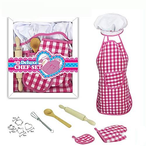 11-Delige Kinderen Bakset, Kindertaart Koken Koken, Cakevorm Set, Diy Speelhuisje Keuken Speelgoed, Complete Kookbenodigdheden Voor Junior Koks