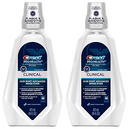 Crest Pro-Health Clinical CPC Antigingivitis/Antiplaque Oral Rinse Deep, Clean Mint 473 ml pack of 2