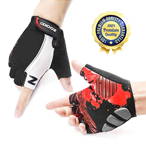 ZOOKKI Cycling Gloves Mountain Bike Gloves Half Finger Gloves - Medium