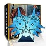 KangYD LED Night Light Cat Mask, lámpara de humor 3D, lámpara creativa, regalo para niños, D - Grieta remota Blanco (7 colores), Lámpara Novedad, Lámpara de dormitorio, Decoración de la habitación