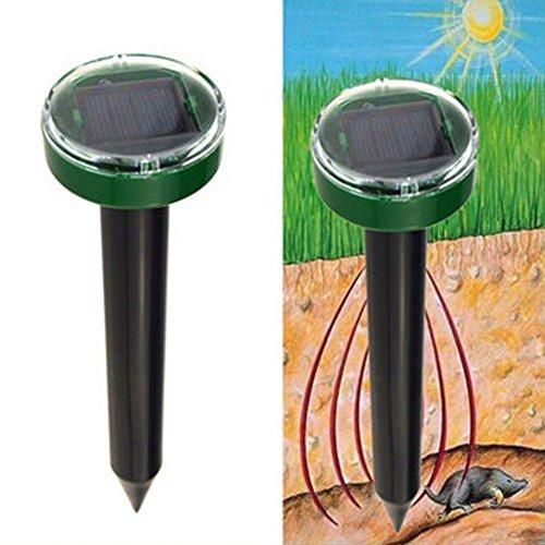 Sroomcla Repelente ultrasónico Solar de plagas: Enchufe eléctrico Repelente de plagas con...