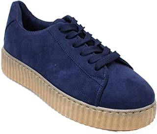 Women's Wedge Platform Comfort Suede Causal Fashion Sneaker Shoes Hanna